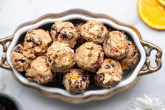 Cardamom Cranberry Clusters make snack time delicious. Almonds, cranberries, orange, and cardamom combine to create one irresistible bite! Gluten Free Deserts, Gluten Free Banana, Gluten Free Pumpkin, Gluten Free Recipes, Gluten Free Spice Cake Recipe, Spice Cake Recipes, Lemon Crinkle Cookies, Pumpkin Spice Cake, Chocolate Recipes