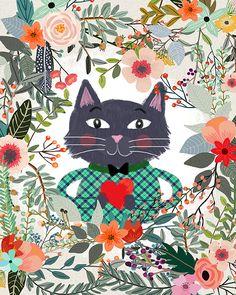 The Cat and the Heart | Mia Charro - Illustrator