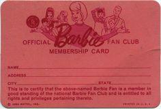 vintage fan club card
