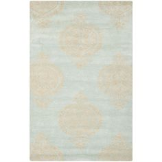 @Overstock - With a plush 0.5-inch pile height, this soft wool rug is a welcoming touch of cushion to your tired feet. A dense, thick pile of New Zealand wool highlights this handmade rug.http://www.overstock.com/Home-Garden/Handmade-Soho-Blue-Beige-New-Zealand-Wool-Rug/7617117/product.html?CID=214117 $50.99