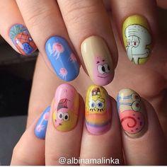 Beautiful kid nails, Beautiful nail colors, Bright colorful nails, Drawings on…