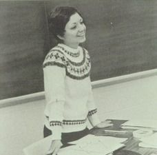 """English teacher Mary Jane Huber in the 1974 """"Accolade"""" yearbook of North Penn high school in Lansdale, Pennsylvania.  #NorthPenn #Lansdale #Accolade #yearbook #1974"""