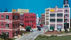 model railroad city scenery | Building City Streets Using Walthers Cornerstone Street Systems