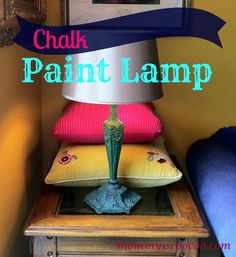 mommy is coo coo: Chalk Paint Lamp with Video Tutorial