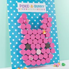 Are you looking for a fun game to play during your Easter party? Or is your outdoor Easter egg hunt in jeopardy because of the weather? Check out this awesome Poke-a-Bunny Game ide
