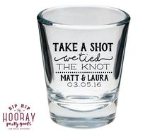 unique wedding favor ideas - custom shot glass wedding favors