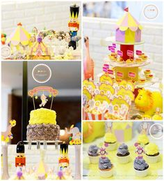 Circus Party with Lots of Awesome Ideas via Kara's Party Ideas | KarasPartyIdeas.com