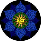 Throat Chakra mosaic mural or table kit