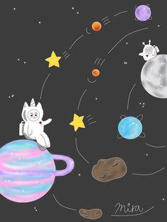 #插畫 #畫畫 #黑黑 #怪物 #自創 #角色設計 #獨角獸貓咪 #igart #unicorncatanddarkness #art #monsterinmyhead #dream #magic #illustration #paint #drawing #friendship #galaxy Darkness, Universe, Create, Character, Cosmos, Lettering, Space, The Universe, Dark