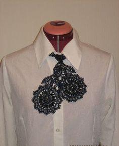 Bobbin Lace Collar Necktie by HandyMaria on Etsy, $55.00