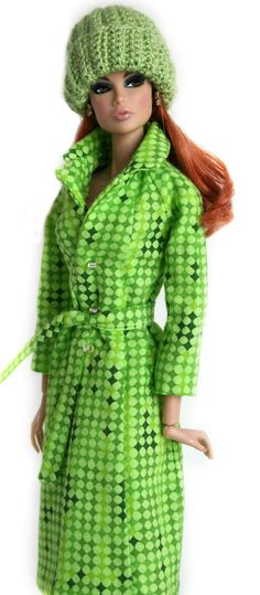 Green Coat & Hat for Barbie by ChicBarbieDesigns on Etsy, $23.99