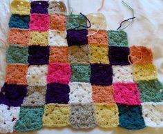 Little Squares blanket, week 4.