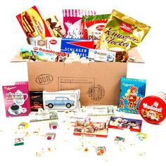 East Germany Sweets Box GDR with licorice Sugared Grapes, Waffle Cookies, Chocolate Covered Marshmallows, Christmas Gift Baskets, Xmas Gifts, Sugar Candy, East Germany, Toy Rooms