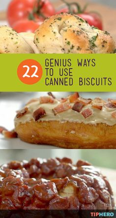 Baking is a breeze when you've got a handy tube of canned biscuit dough. And if all you are making with this kitchen staple is biscuits - you are missing out! Here are 22 genius ways to use canned bis Philsbury Biscuit Recipes, Refrigerated Biscuit Recipes, Recipe Using Canned Biscuits, Bisquit Recipes, Pilsbury Recipes, Homemade Biscuits, Making Biscuits, Recipes With Biscuits Pillsbury, Bread Recipes