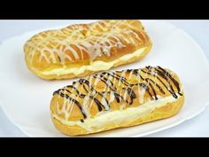 Step by Step Eclairs Recipe (Video Recipe)/Eclere pas cu pas (Reteta video) Sweets Recipes, Healthy Dinner Recipes, Cooking Recipes, Sweet Desserts, Vegan Desserts, Eclair Recipe, Vegan Challenge, Romanian Food, Romanian Recipes