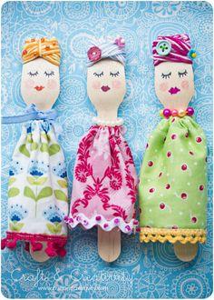 tessituras: Bonecas de Colher de Pau / Wood Spoon dolls