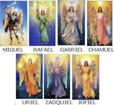 ✨The Seven✨ I love these images of the amazing seven Archangels. The colors symbols and overall energy of each really resonates with me❤