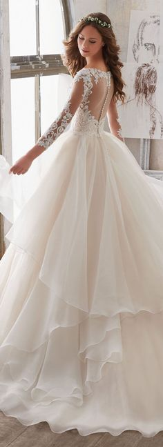 Layers sleeves ballgown