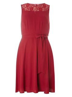 **Billie & Blossom Raspberry Lace Insert Dress - View All Dresses - Dresses…