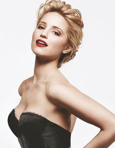 Dianna Agron-- I cannot picture her in anything other than a Cheerios outfit.  And pregnant.