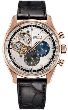 Zenith El Primero Chronomaster 1969 Silver Dial Brown Leather Mens Watch 18.2040.4061/69.C494 13k