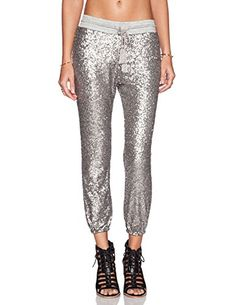 HaoDuoYi Womens Punk Bodycon Drawstring Casual Sequins Crop PantsXXLSilver *** Read more reviews of the product by visiting the link on the image. (This is an affiliate link) #WomensAutomnFashionPants