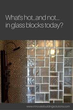 Why settle for a clear glass shower wall when you can have a leaded glass inspired design like this one done with glass blocks? See new inspired designs by clicking through this article. | Innovate Building Solutions