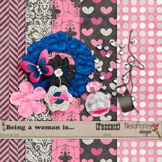 FREE Being A Woman Is..... by Neia Arantes - Design Digital Scrapbook