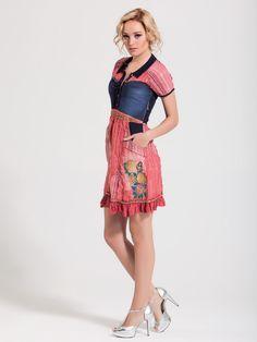 Signet dress. Summer dress. Denim/Pink. Dress Summer, Fashion Outfits, Denim, Floral, Skirts, Clothing, Pink, Style, Skirt