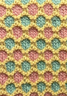 Knitting Pattern For Honeycomb Baby Blanket : 1000+ images about Honeycomb Stitch Knit/Crochet/Tunisian Crochet on Pinteres...