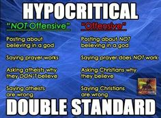 """The Christian hypocritical double standard. Weak-minded people always act like they're being """"persecuted"""" because they don't understand what an adult discussion is."""