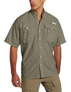 Columbia Men's Bahama II Shorts Sleeve Shirt, Cypress, Large