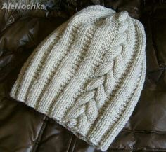 works: adult Nina Beanie - Knit and Crochet - Awesome knitted and crocheted items and patterns. Baby Hats Knitting, Knitted Hats, Sombrero A Crochet, Knitting Patterns, Crochet Patterns, Knitting Accessories, Kids Hats, Knit Beanie, Crochet Yarn