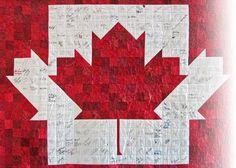Canada flag quilt - fabulous