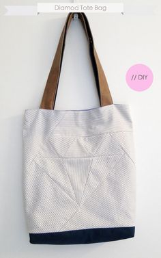 // DIY Diamond Tote Bag
