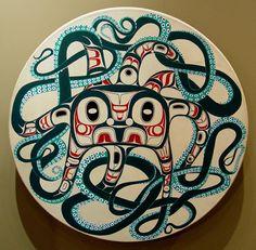 Octopus drum by Corey Moraes - Tsimshian Fine Arts