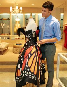 Monarch Butterfly Dress. What I would give to just be able to try it on...