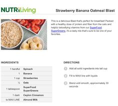 Strawberry Banana Oatmeal Blast