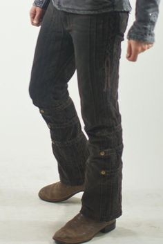 <Contacted re:size availability> Gaucho Pants - Rust Dusted (Black) Org.