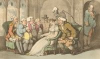 'The Courtship' English Dance of Death, Thomas Rowlandson, 1814 Dance Of Death, Flora And Fauna, Medieval, English, Painting, Art, Art Background, Painting Art, Kunst