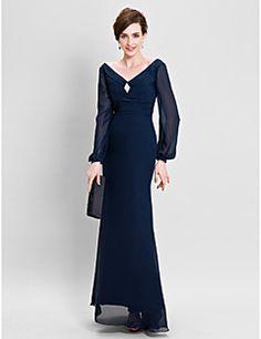 Lanting Bride Sheath / Column Plus Size / Petite Mother of the Bride Dress…