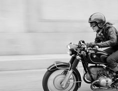 Stacie B. London photographed by Scott Pommier. 1969 BMW R60US