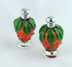strawberry salt and pepper shakers