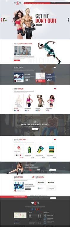 Fat-2-Fit is a unique and elegant #PSD template for #gyms, #fitness classes and other Health Product related websites download now➩ https://themeforest.net/item/fat2fit-fitness-studio/18844115?ref=Datasata