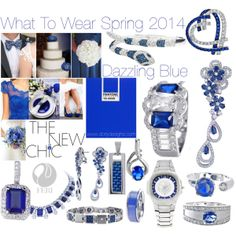 Hot Trend: Dazzling Blue Top Fashion Colour Spring 2014 by #DORLYDESIGNS on Polyvore.