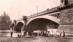 Trent Bridge: Illustrative image for the 'Nottingham Dialect' page on Our Nottingham - a community history website Nottingham City, Old Quotes, Bridge, Community, Songs, Website, History, Places, Image