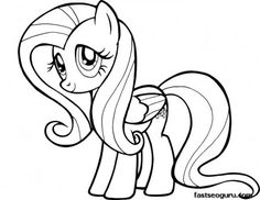 Printable My Little Pony Friendship Is Magic Fluttershy coloring pages - Printable Coloring Pages For Kids