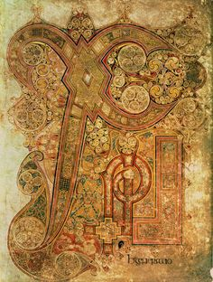 The Chi-Rho Page from the Book of Kells: