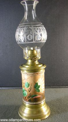 Energetic Lamp Oil Porcelain De Paris Pattern Pink Oil Lamp Antiques