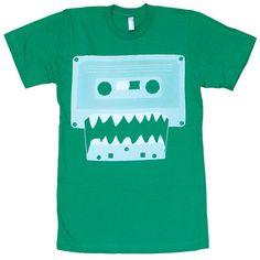Cassette Monster Men's Tee Green now featured on Fab.